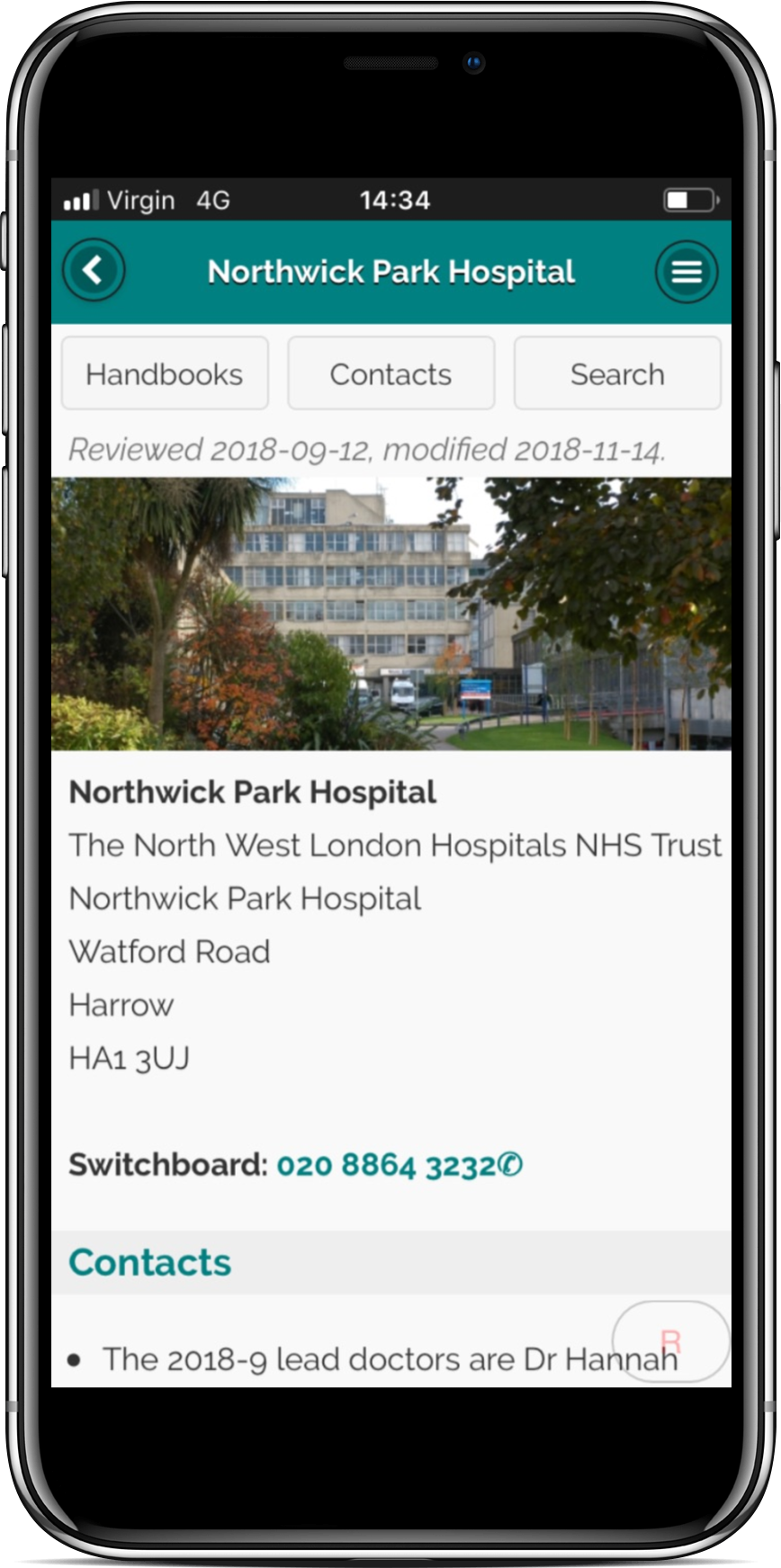 App for Northwick Park Hospital
