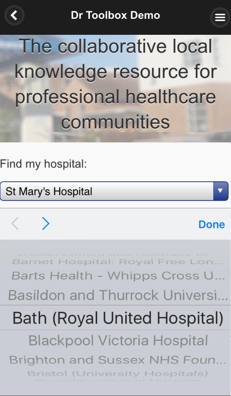 Select hospital